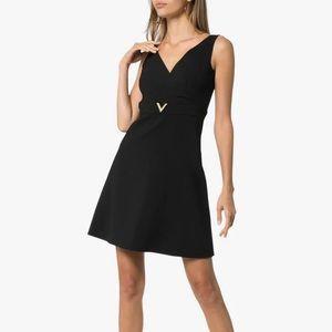 NWT Valentino V Hardware Little Black Dress